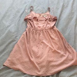 Lauren Conrad pink polka dot dress